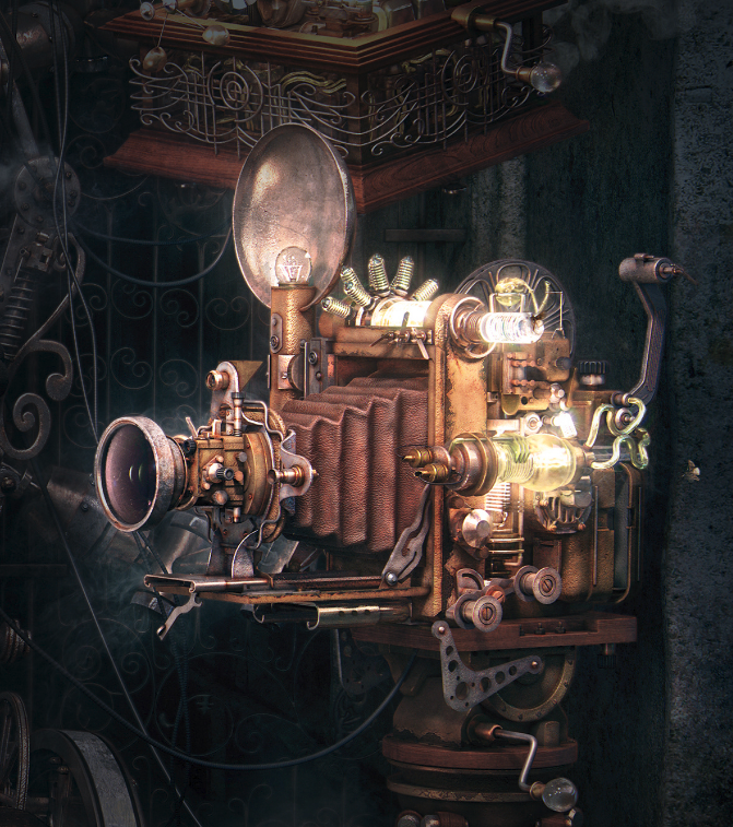 Steampunk style 3d imaging