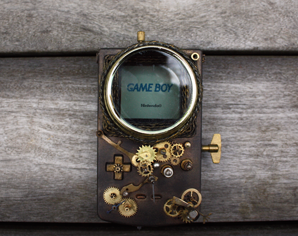 Steampunk Game Boy Mod by Elise Siegwald
