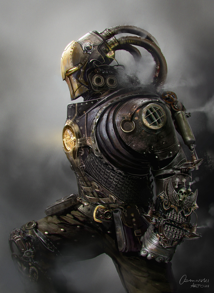 Steampunk style art collection