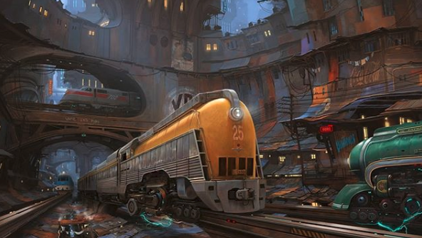 Past and future with flying cars by Alejandro Burdisio