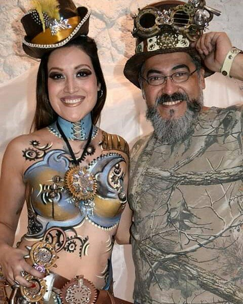 Bodypainting steampunk