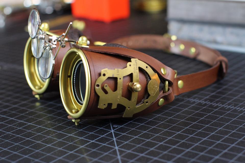 A lot of Steampunk Goggles by CraftedSteampunk