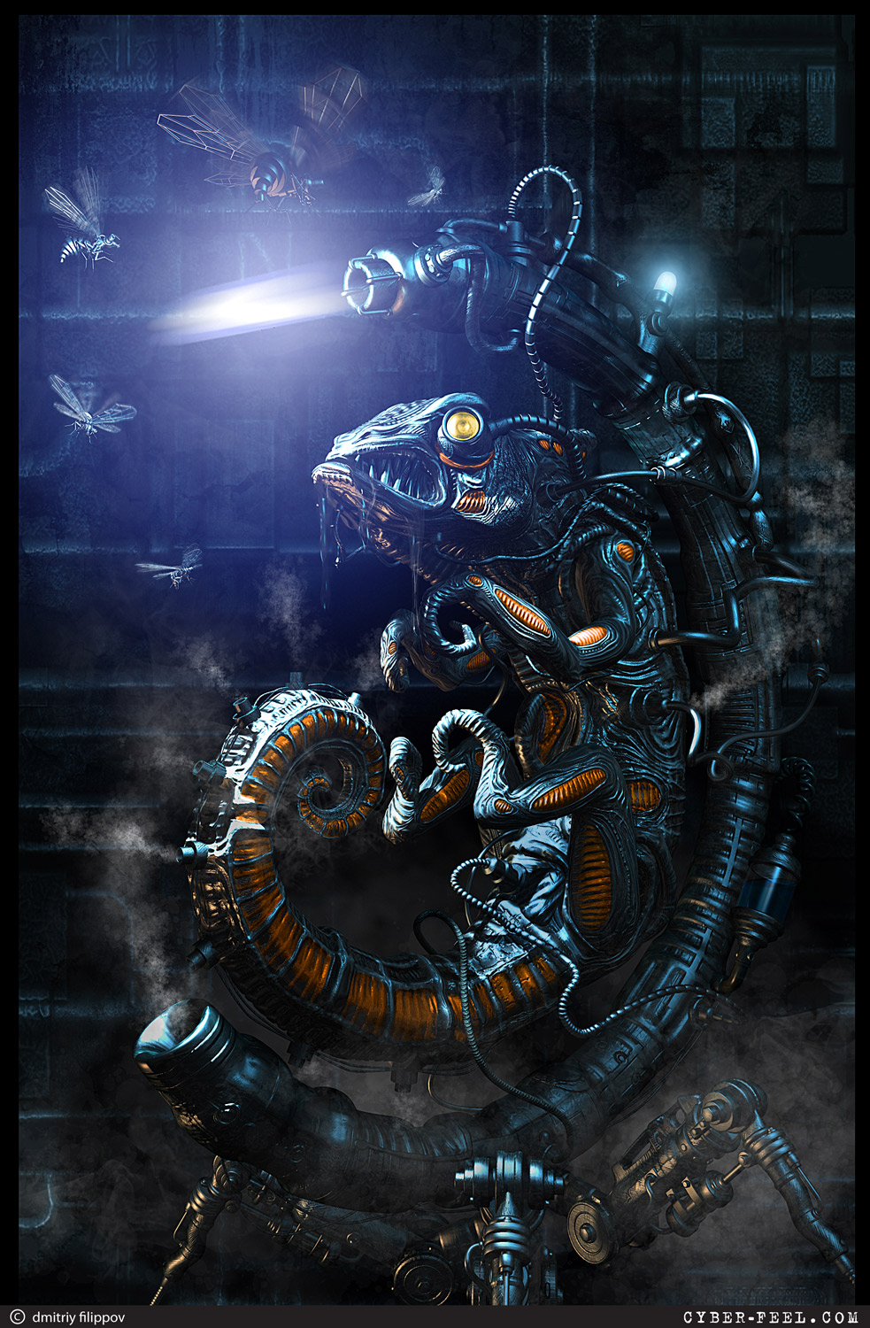 Steampunk art, 3D visualization and hand made work by Dmitriy Filippov