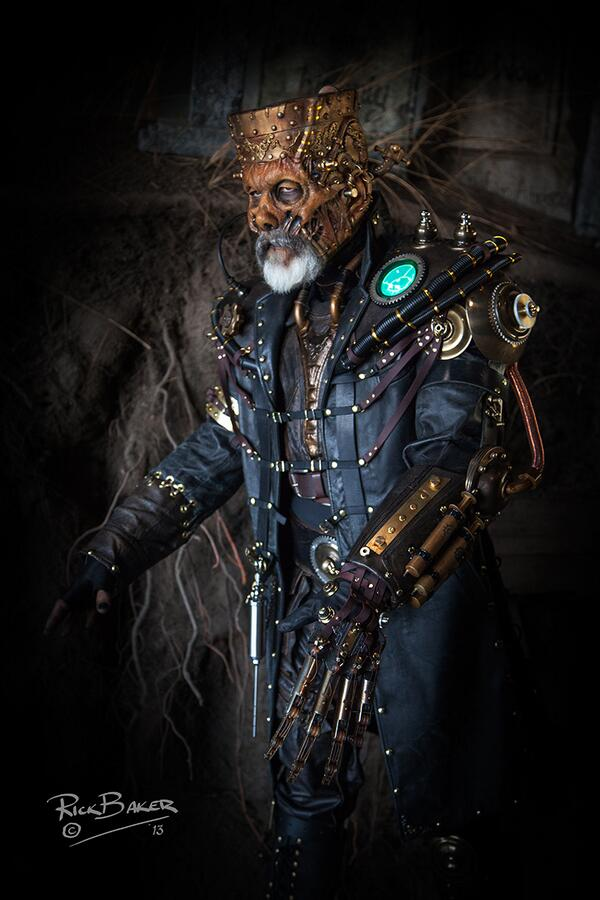 Steampunk Frankenstein's costume by Rick Baker