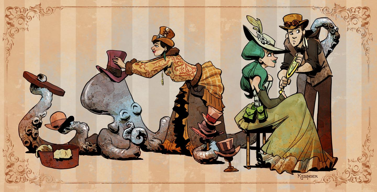 Otto and Victoria by Brian Kesinger
