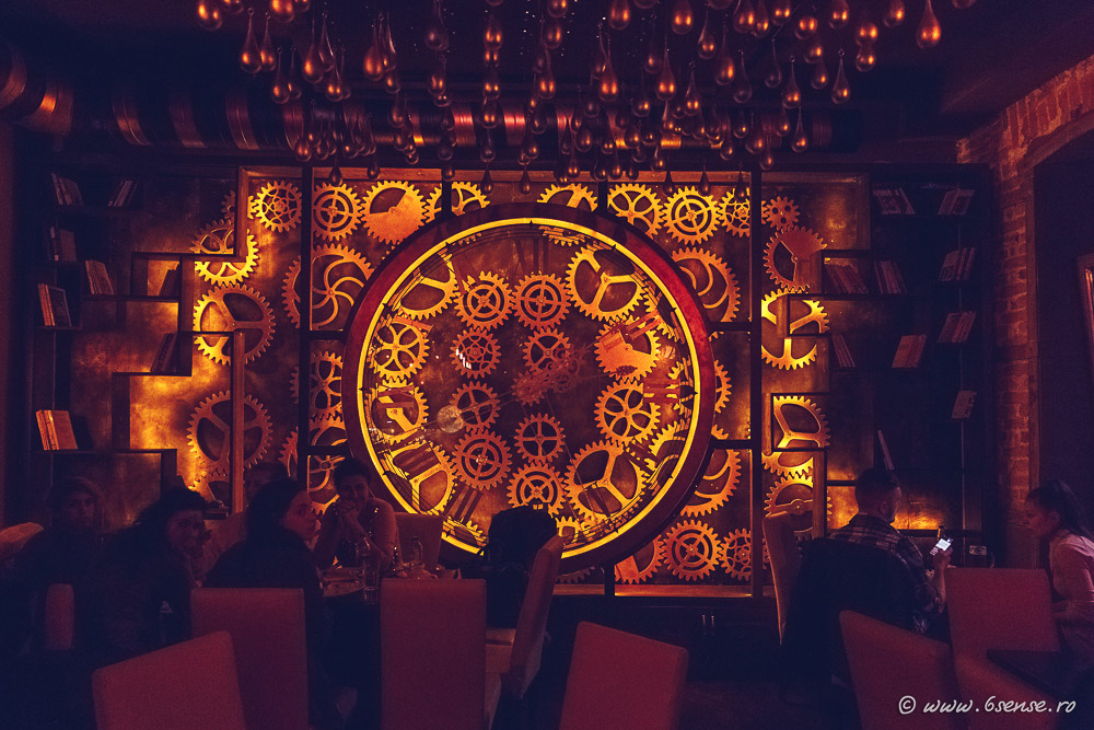 Steampunk style bar Enigma in Romania