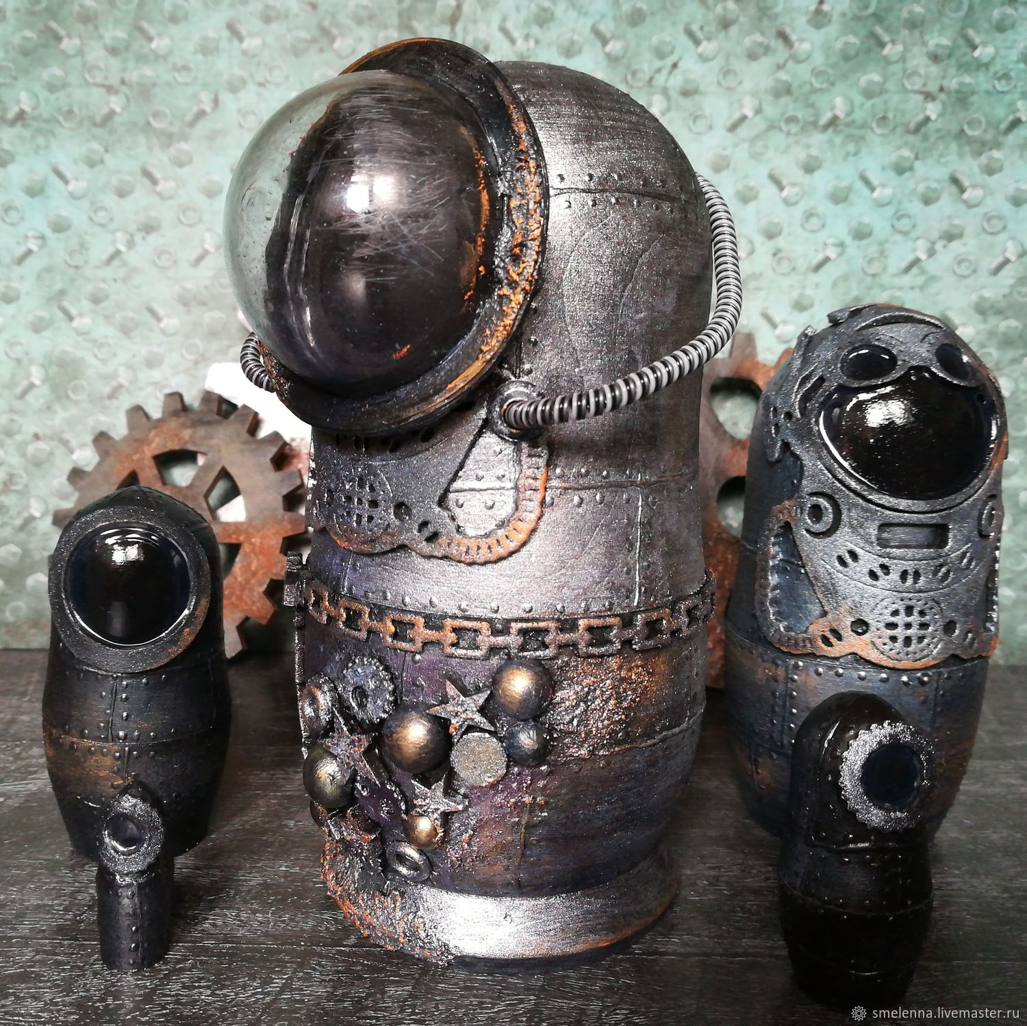 Hand made steampunk style works by G_OldBolt