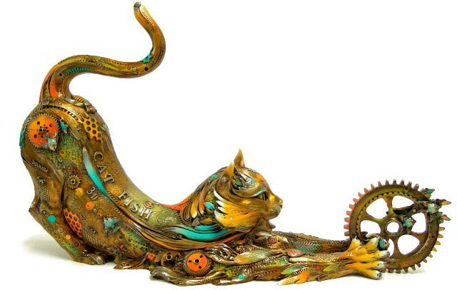 Collection of bronze sculptures by Nano Lopez