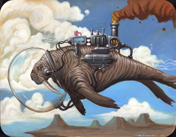 Roland Tamayo's steam whales and manatees