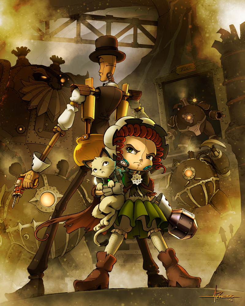 Steampunk style arts by Alejandro Lee