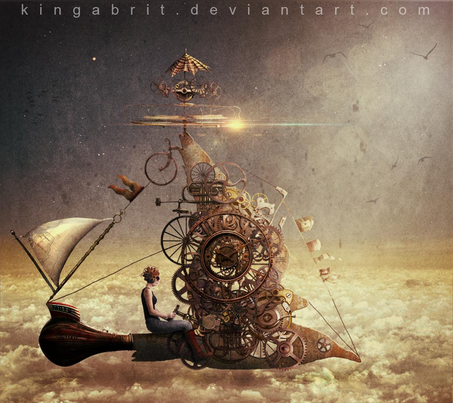 Kinga Britschgi's fantasy and steampunk style arts
