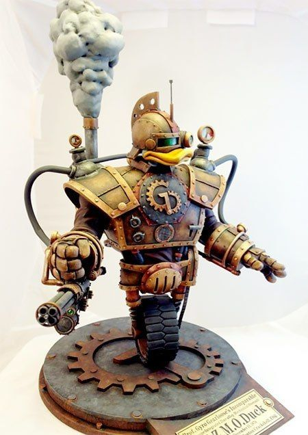 Steampunk GizmoDuck by Tim Wollweber