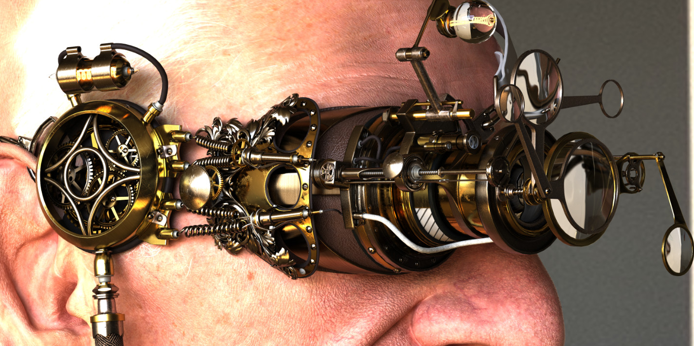 3D character artist Artem Gansior and his steampunk style works
