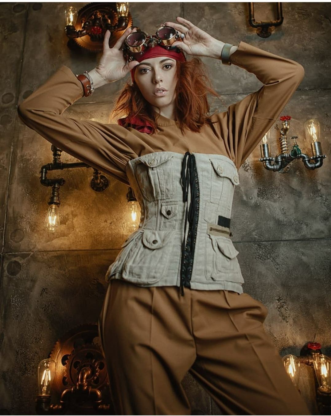 Steampunk style photos by Zhenya Volkova