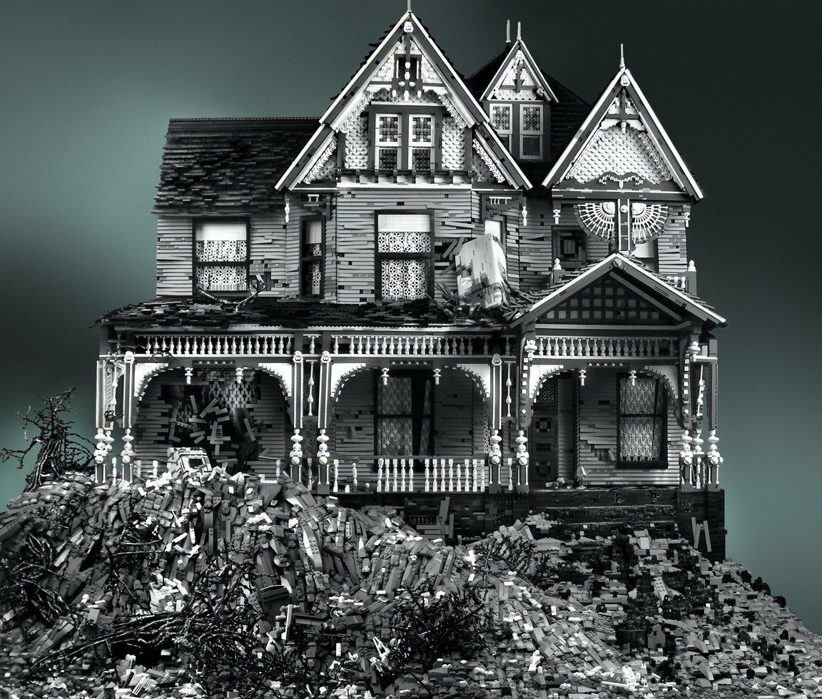 Abandoned LEGO Victorian Houses by Mike Doyle